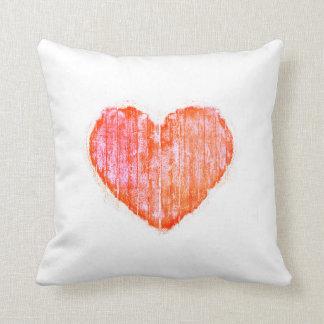 Pop Art Style Grunge Graphic Heart Cushion