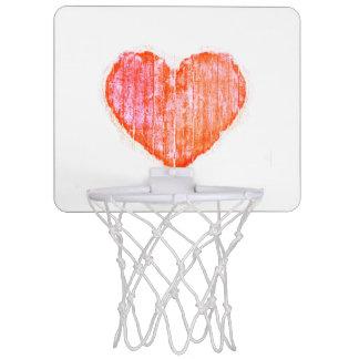 Pop Art Style Grunge Graphic Heart Mini Basketball Hoop