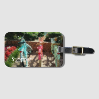 Pop Art Summer Colorful Bikes Luggage Tag