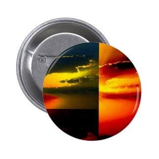 Pop Art Sunset 6 Cm Round Badge