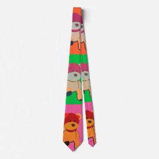 Pop art Teddy bear Tie