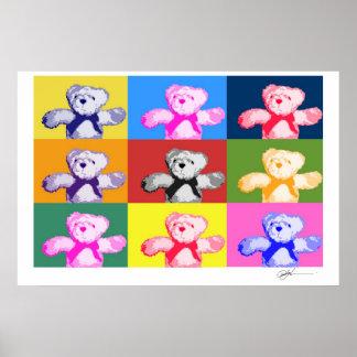 Pop Art Teddy Bears Print