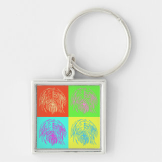 Pop Art Tibetan Terrier Key Ring
