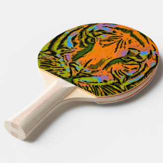 Pop Art TIGER HEAD + your backgr. & ideas Ping Pong Paddle