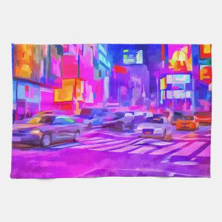 Pop Art Times Square Tea Towel