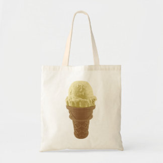 Pop Art Vanilla Ice Cream Cone Tote Bag