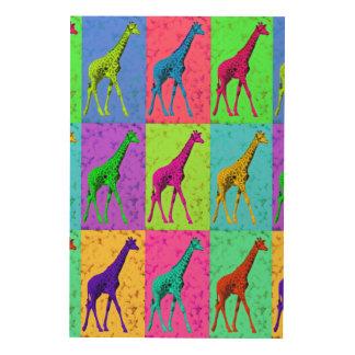 Pop Art Walking Giraffe Panels
