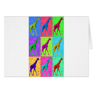 Pop Art Walking Giraffe Panels Card