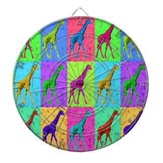 Pop Art Walking Giraffe Panels Dartboard