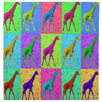 Pop Art Walking Giraffe Panels Napkin