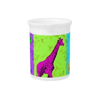 Pop Art Walking Giraffe Panels Pitcher