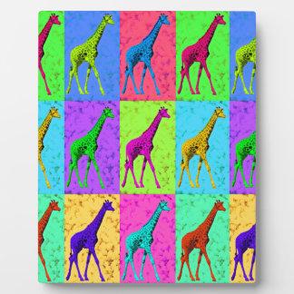 Pop Art Walking Giraffe Panels Plaque