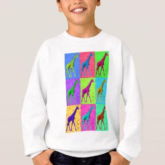 Pop Art Walking Giraffe Panels Sweatshirt