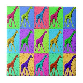 Pop Art Walking Giraffe Panels Tile