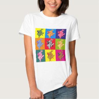 Pop Art White Rabbit Full Colour T Shirt