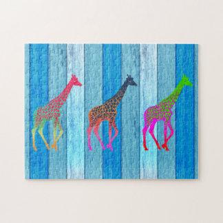 Pop Art Wild Giraffes Puzzle