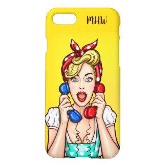 Pop Art Woman custom monogram phone cases