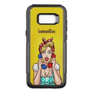 Pop Art Woman custom name phone cases