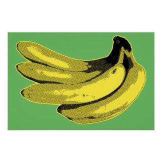 Pop Art Yellow Banana Graphic