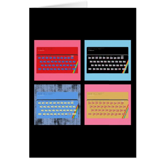 Pop Art ZX Spectrum Card
