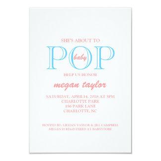 Pop Baby Shower Invite  whitepiblu