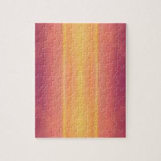 Pop Bright Pink Peach Vertical Pattern Jigsaw Puzzle