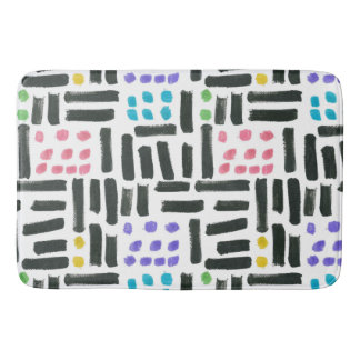 Pop Brushstrokes Bath Mat