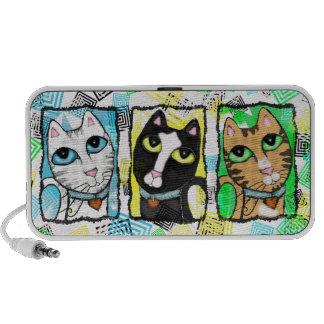 Pop Cats Abstract Art Doodle Speaker