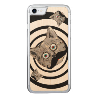 pop cats with moustache carved iPhone 7 case
