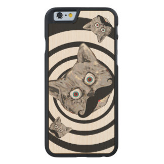 pop cats with moustache carved® maple iPhone 6 slim case