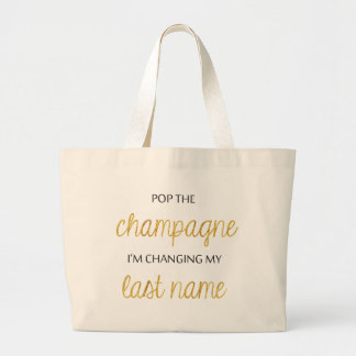Pop Champagne Bride Tote