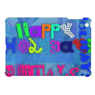 Pop Colorful Happy Holidays iPad Case