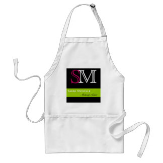 Pop Colors in Pink Green and Black Standard Apron
