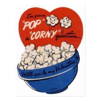 """Pop """"Corny"""" Valentine Postcard"""