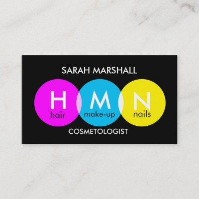 Simple bw mua business cards zazzle reheart Image collections