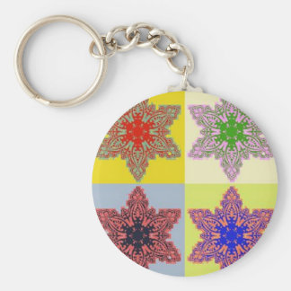 POP CULTURE CHRISTMAS BASIC ROUND BUTTON KEY RING