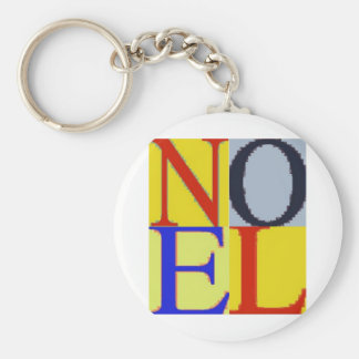 POP CULTURE NOEL BASIC ROUND BUTTON KEY RING
