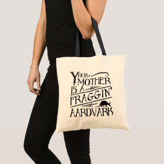 Pop Culture Your Mum is an Aardvark 80's Tote Bag