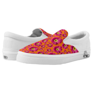 Pop Daisy Fuchsia Pink Printed Shoes
