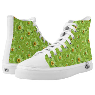 Pop Daisy Green Printed Shoes