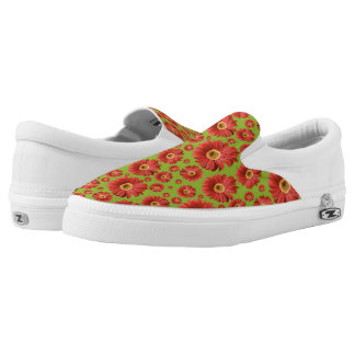 Pop Daisy Red Printed Shoes
