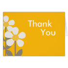 POP DAISY Yellow Folded Thank you note Card