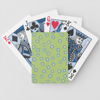 Pop Flowers Florettes blue Playing Cards