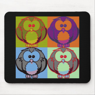 Pop Goes the Owl Mouse Pad