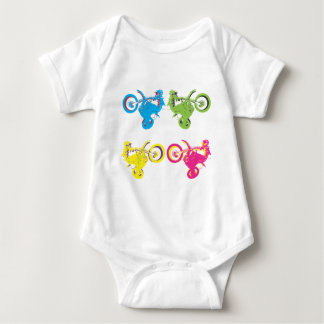 Pop Grungy Motocross Baby Bodysuit