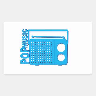 Pop Music Rectangular Sticker