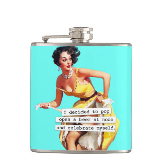 Pop Open a Beer At Noon Hip Flask