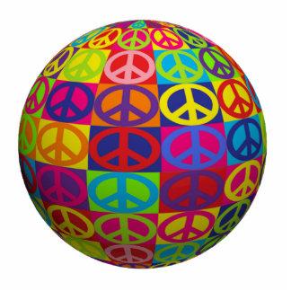 Pop Peace Ball Standing Photo Sculpture
