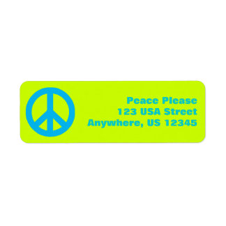 Pop Peace Sign Return Address Label