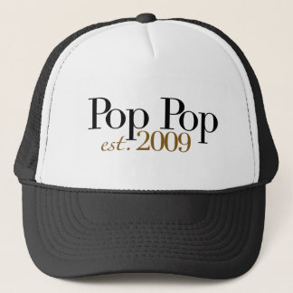 Pop Pop Est. 2009 Trucker Hat